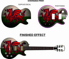 More details for high quality skin wrap for electric guitar lp style wales welsh dragon lp03