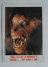 1988 Topps FRIGHT FLICKS Horror Movies Card #24 ~ An American Werewolf In London