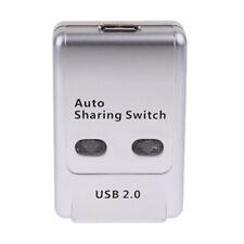 USB 2.0 Switch Hub Sharing Switcher Splitter 1 Auto Printer Scanner to 2PC