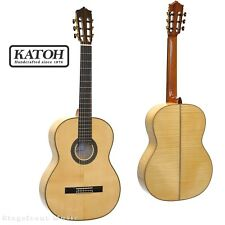 KATOH MCG85S CLASSICAL GUITAR. SOLID SPRUCE TOP. FLAMED MAPLE BACK