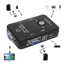 4 Port USB 2.0 KVM Switcher Switch Box Maus Tastatur VGA-Video Monitor Für PC .