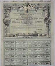 SULLY (obligation 1911,série G) TOURS-INDRE ET LOIRE (3974)