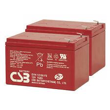 CSB 12V 15AH Mobility Scooter Batteries x 2 Shoprider High Capacity EVH12150 F2