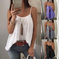 Women's Summer Casual Loose Casual Vest Tank Tops Sleeveless Boho T-Shirt Blouse