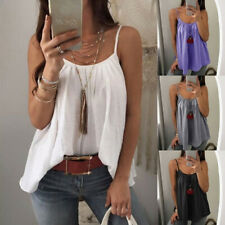 Women's Summer Casual Loose Casual Vest Tank Tops Sleeveless Boho T-Shirt Blouse
