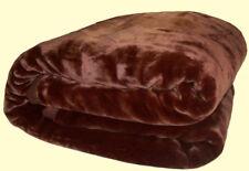 Solaron Korean Blanket throw Thick Acrylic Mink Plush Solid Korean Heavy Weight