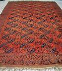 19th C  Antique Turkmen Ersari Oversize Oriental Rug Excellent Cond & Color