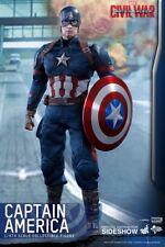 Hot Toys Captain America guerre civile Chris Evans Steve Rogers 1:6 figure UK