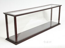 """Display Case 45"""" Wooden Table Top Cabinet for Ocean Liner & Cruise Ship Models"""