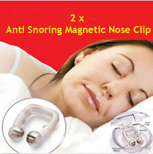 2xAnti Snoring Stop APNOEA Stop Snoring Nose magnet Clip Anti snore nose ring SM