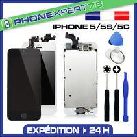 VITRE TACTILE IPHONE 5S / 5C OU 5 COMPLET + ECRAN LCD SUR CHASSIS + OUTILS