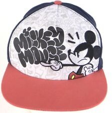 Disney Parks Mickey Mouse Black White Red Snapback Adjustable Cap Hat