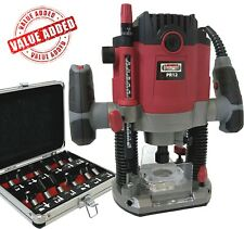 """Heavy Duty Variable Speed 1/2"""" Electric 1800w Plunge Router with Side Fence 240v"""