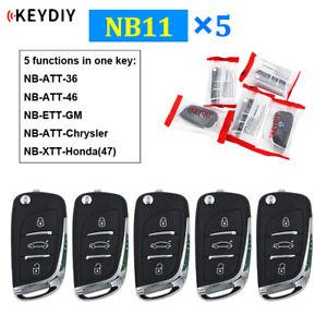 5Pcs NB11 Multi-functional 3 Button Remote Car Key for KD900 KD900+ URG200 KD-X2