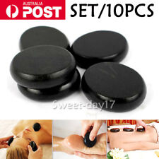 10pcs 6CM Round Hot Stone Massage Basalt Stones Rocks Massager SPA Release OZ