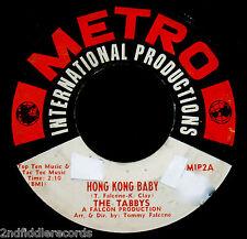 THE TABBYS-Hong Kong Baby+Physical Fitness Blues-Rare Monster R&B 45-METRO #MIP2