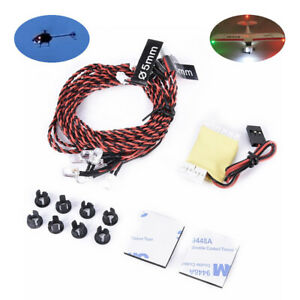 RC True Realism Navigation Lights System 8 LED For Plane Airplane Helicopter
