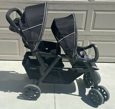 Chicco Cortina Together Double Stroller 2 Children Stroller, Black & Grey CLEAN