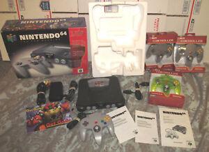 Boxed N64 Complete CIB System Nintendo 64 Console Super Smash Bros Bundle Nice