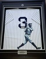 BABE RUTH, LOU GEHRIG, JOE DIMAGGIO & MICKEY MANTLE SIGNED & PAINTED JERSEY SET