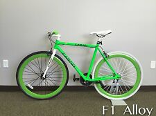 Caraci Fixed Gear F1 Alloy Bike Unisex alloy bicycles bike Green