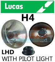 "LUCAS LHD 7"" CLASSIC CAR SEALED BEAM HEADLAMP HEADLIGHT HALOGEN H4 CONVERSION"