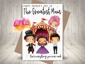 Cute The Greatest Showman Inspired Mothers Day Card: To The Greatest Mum