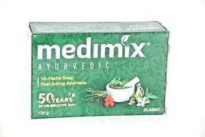 3 X Medimix Herbal 125gm /  18-HERB SOAP - AYURVEDIC FORMULA