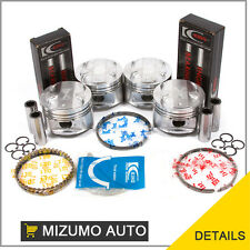 Fit 01-05 Mazda Miata MX-5 1.8 BP Pistons Set with Rings Main Rod Bearings