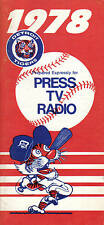 1978 Media Guide, Baseball, Detroit Tigers, Jack Morris, Alan Trammell