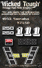 YAMAHA 1983 YZ250 WICKED TOUGH DECAL GRAPHIC KIT