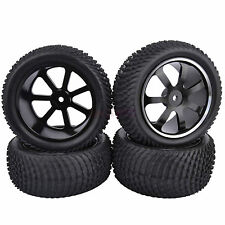 4PCS RC 1:10 Off-Road Buggy Car Front &Rear Metal Wheel Rim & Rubber Tires M07A1