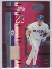 New listing Mark Teixeira 2005 Leaf Certified Materials Mirror Red Game-Used Bat #105 /250