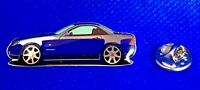 Mercedes Benz Pin SLK R170 glasiert blau - Maße 40x13mm