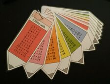 Times tables flash cards 1-12 Maths numeracy resources Pocket size pencil design