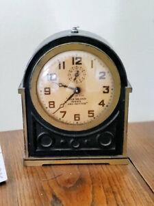 Vintage Star Brand Advertising Clock ~ New Haven Art Deco Alarm Clock ~ Works!