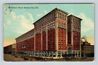 Kansas City MO, Baltimore Hotel, Missouri, Vintage Postcard Z33