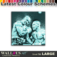 Mike Tyson Evander Holyfield Canvas Print Framed Photo Picture Wall Artwork WA