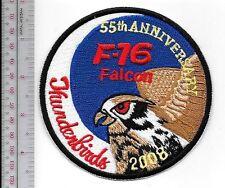 Aerobatic US Air Force USAF Thunderbirds Display Team 55th Year Nellis AFB F-16