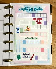Weight Loss Tracker Diet Dashboard Insert for use with MINI HAPPY Planner