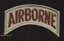 AIRBORNE TAB DESERT TAN HAT PATCH USA INF CO PIN UP US ARMY MARINES GIFT VET WOW