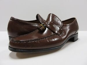 NEW Hanover Slip-on Loafer Tassel Dress Shoes Brown Size 10 D New Old Stock