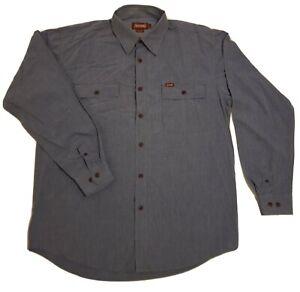 Men's Driza-Bone Size Large Long Sleeved Blue Shirt