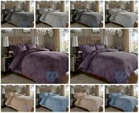 Luxury Damask Jacquard Duvet Cover Set 600TC CottonRich Bedding With Pillowcases