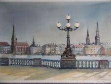Blue Cityscapes Original Art Paintings