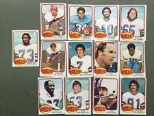 Lot cartes NFL Buffalo Bills Topps 1976 1980 1981 Football Américain