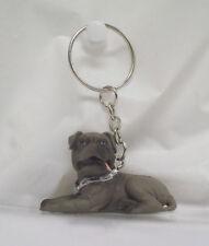 Series 2 Hood Hounds Monstro Gray Bull Mastiff Dog Figure KeyRing S2#8