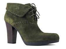 Enzo Angiolini Women's Andre Ankle Boots Green Suede Size 9.5 M