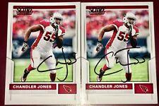 Chandler Jones Arizona Cardinals NFL DE auto autograph 2 SCORE football card LOT