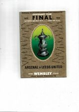1972 Arsenal v Leeds United FA Cup Final Football Programme